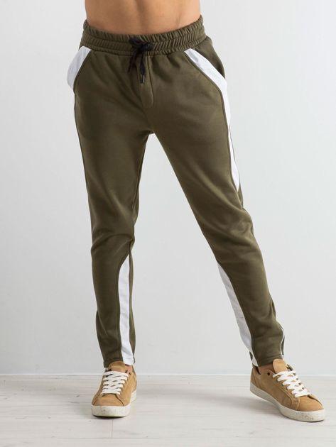 Oliwkowe spodnie dresowe męskie Durable                              zdj.                              1
