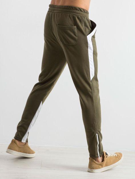 Oliwkowe spodnie dresowe męskie Durable                              zdj.                              5