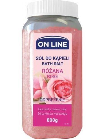 On Line Sól do kąpieli Róża  800 g