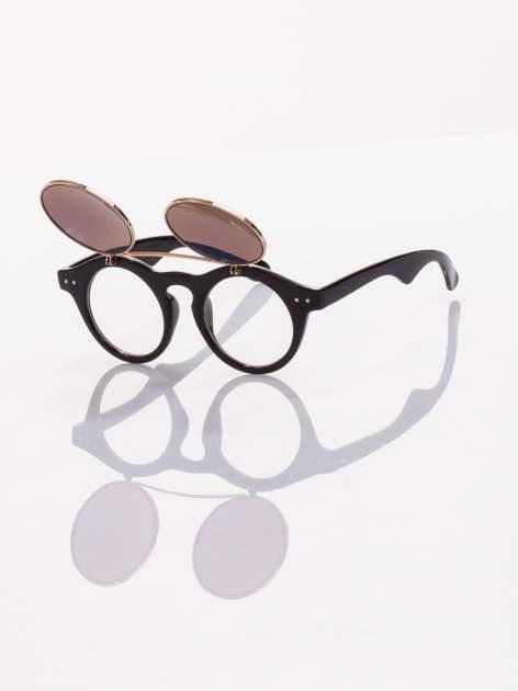 Otwierane okulary przeciwsłoneczne w stylu vintage retro lustrzanki                                  zdj.                                  3