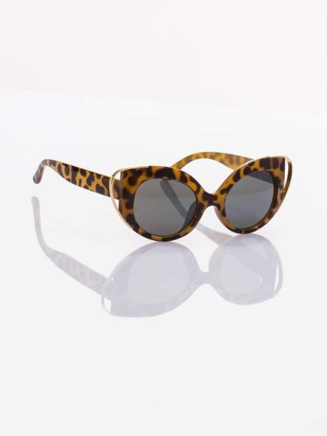 PANTERA okulary KOCIE OCZY przeciwsłoneczne w stylu vintage typ MARLIN MONROE ze złotymi elementami                                  zdj.                                  2