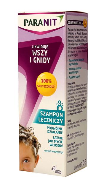 PARANIT Szampon leczniczy likwidujący wszy i gnidy 100 ml