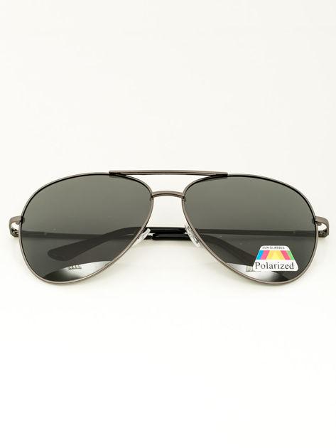 PILOTKI Stalowe okulary przeciwsłoneczne POLARYZACYJNE                               zdj.                              1
