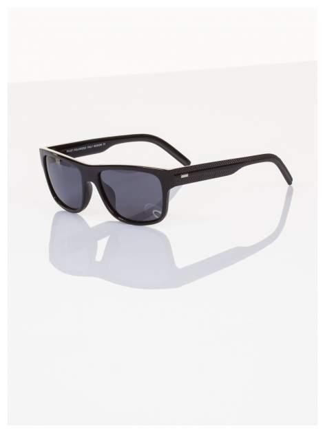 POLARYZACJA Ekskluzywne włoskie okulary typu NERD dla mężczyzn+GRATISY