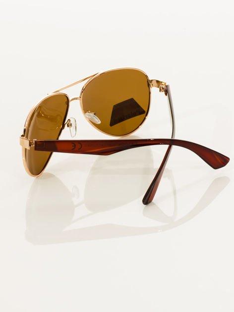 POLARYZACJA Złote okulary pilotki                                   zdj.                                  5