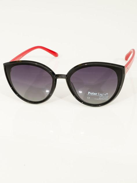 PREMIUM czerwono-czarne przeciwsłoneczne okulary POLARYZACYJNE                              zdj.                              2