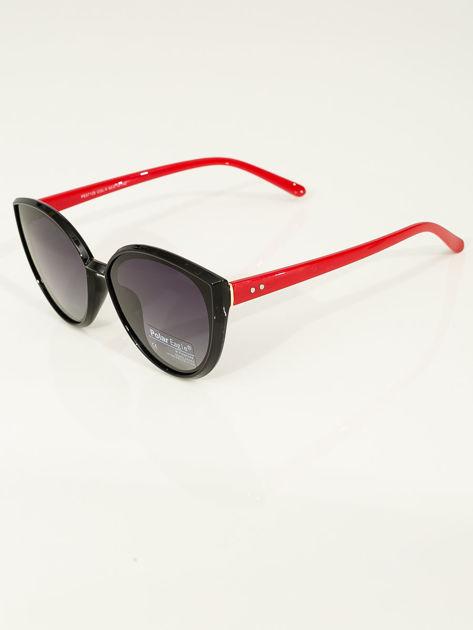 PREMIUM czerwono-czarne przeciwsłoneczne okulary POLARYZACYJNE                              zdj.                              3