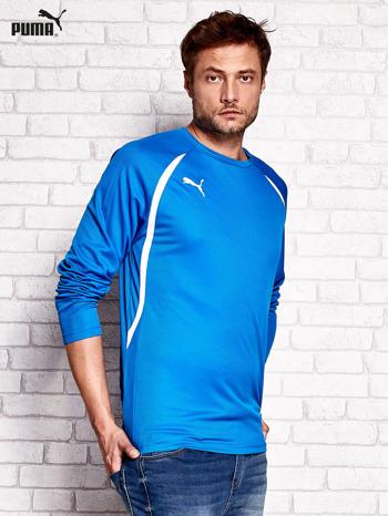 PUMA Niebieska bluzka męska z przeszyciami                                  zdj.                                  2