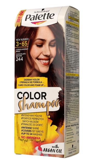 """Palette Color Shampoo Szampon koloryzujący  nr 3-65 (244) Czekoladowy Brąz  1op."""""""