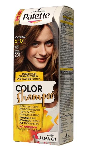 "Palette Color Shampoo Szampon koloryzujący  nr 6-0 (231) Jasny Brąz  1op."""
