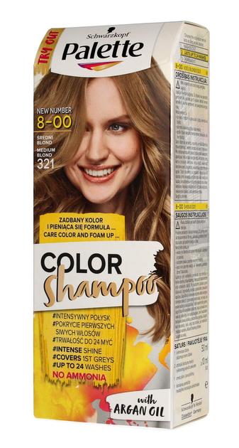 "Palette Color Shampoo Szampon koloryzujący  nr 8-00 (321)Średni Blond  1op."""