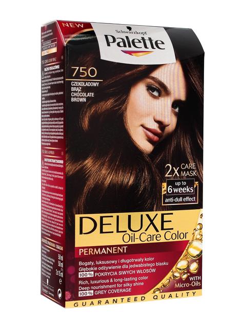 """Palette Deluxe Farba do włosów permanentna nr 750 Czekoladowy Brąz"""""""