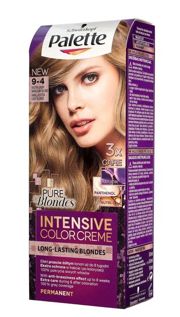 "Palette Intensive Color Creme Krem koloryzujący nr 9-4 Ekstra Jasny Waniliowy Blond  1op."""