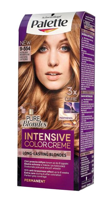 "Palette Intensive Color Creme Krem koloryzujący nr 9-554 Ekstra Jasny Miodowy Blond  1op."""