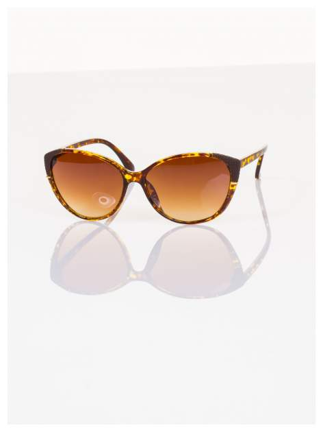Pantera KOCIE OKO klasyczne damskie okulary przeciwsłoneczne ze zdobieniami na ramkach                                   zdj.                                  2