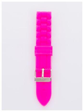 Pasek silikonowy do zegarka 18 mm - różowy                                  zdj.                                  1