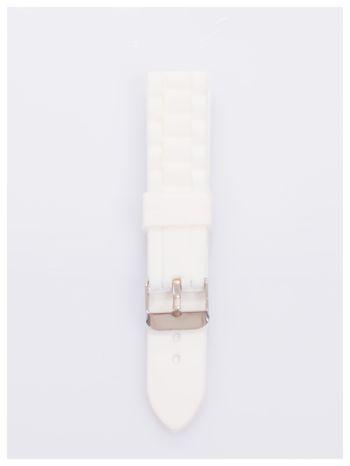 Pasek silikonowy do zegarka 20 mm - biały