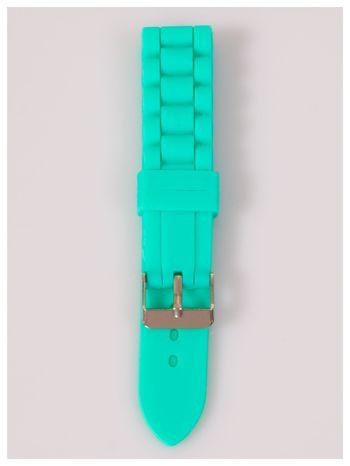 Pasek silikonowy do zegarka 25 mm - miętowy