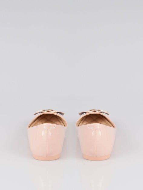 Pasteloworóżowe baleriny Gimmie Love ze złotym detalem                                  zdj.                                  3