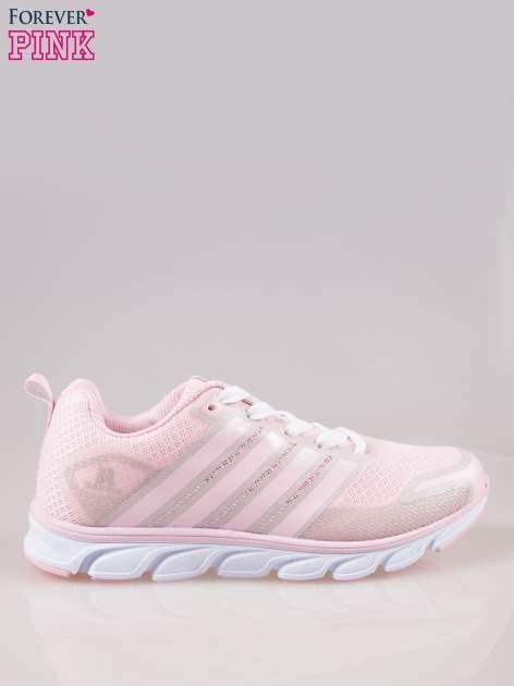 Pasteloworóżowe buty sportowe textile Lovegame z elastyczną podeszwą                                  zdj.                                  1