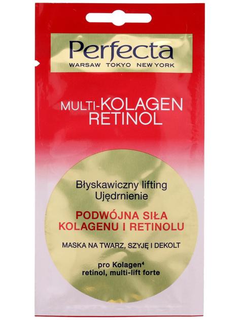Perfecta Multi-Kolagen Retinol Maska na twarz, szyję i dekolt Błyskawiczny lifting 8 ml