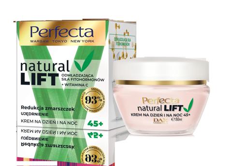 "Perfecta Natural Lift 45+ Krem Redukcja Zmarszczek-ujędrnienie na dzień i noc  50ml"""