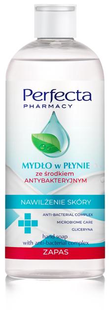 """Perfecta Pharmacy Mydło w płynie ze środkiem antybakteryjnym  400ml - zapas"""""""