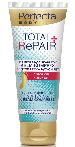 "Perfecta Total Repair Krem-kompres ""Złuszczające skarpetki"" do stóp i pięt 100 ml"