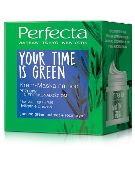 Perfecta Your Time Is Green Krem-maska na noc przeciw niedoskonałościom 50ml