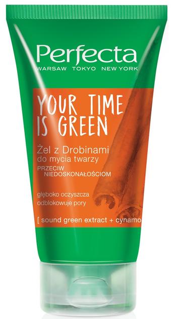 Perfecta Your Time Is Green Żel z drobinkami do mycia twarzy przeciw niedoskonałościom 150 ml