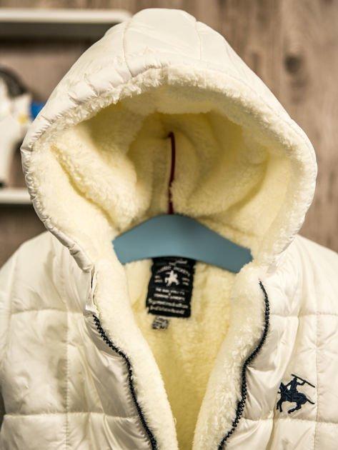 Pikowany zimowy kombinezon dziecięcy biały                              zdj.                              13