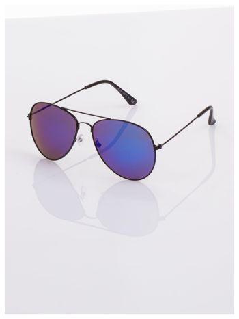 Pilotki AVIATORY Czarne klasyczne okulary przeciwsłoneczne