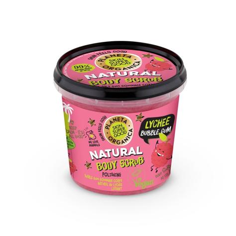 "Planeta Organica Skin Super Good Scrub do ciała Lychee Bubble Gum  360g"""