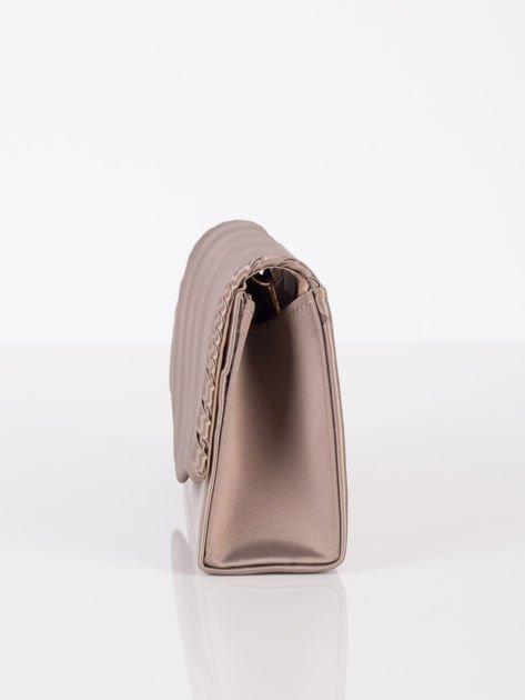 Plisowana elegancka kopertówka khaki                              zdj.                              6