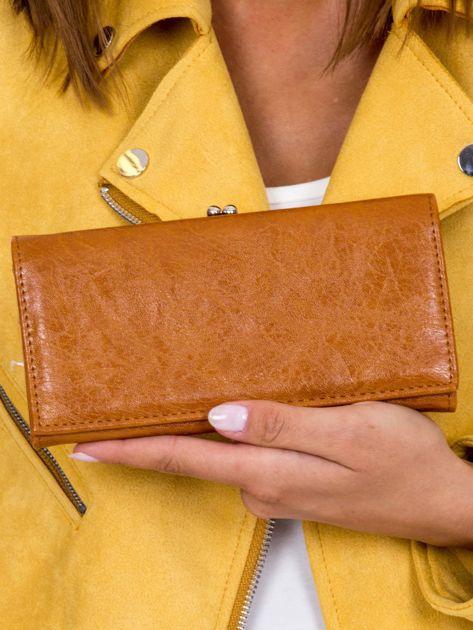 Podłużny portfel damski brązowy