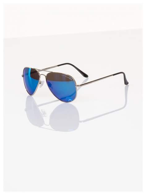 Policyjne niebieskie okulary pilotki lustrzanki dla kierowcy POLARYZACJA+GRATISY                                  zdj.                                  1