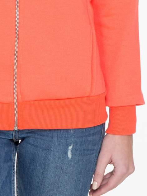 Pomarańczowa bluza damska z kapturem zasuwana na suwak                                  zdj.                                  6