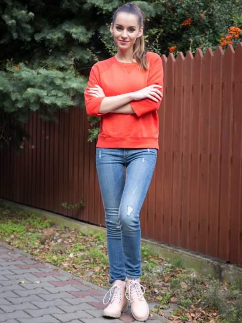 Pomarańczowa bluza oversize z łączonych materiałów                                  zdj.                                  9