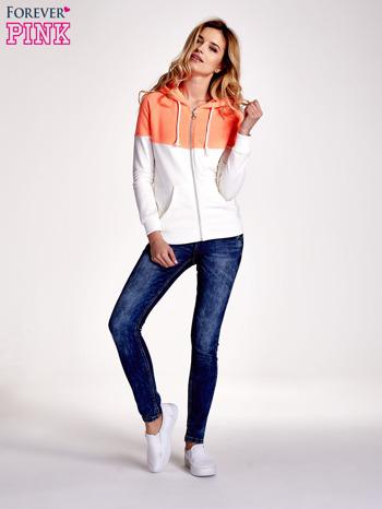 Pomarańczowa bluza z białym pasem                                  zdj.                                  2