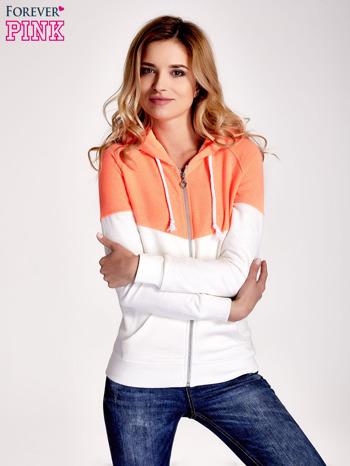 Pomarańczowa bluza z białym pasem                                  zdj.                                  1