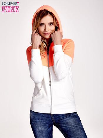 Pomarańczowa bluza z białym pasem                                  zdj.                                  5
