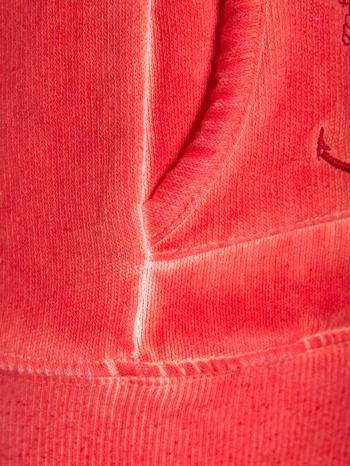 Pomarańczowa bluza z kapturem z efektem sprania                                  zdj.                                  8