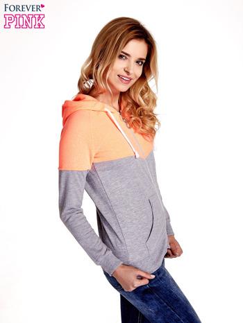 Pomarańczowa bluza z szarym pasem                                  zdj.                                  3