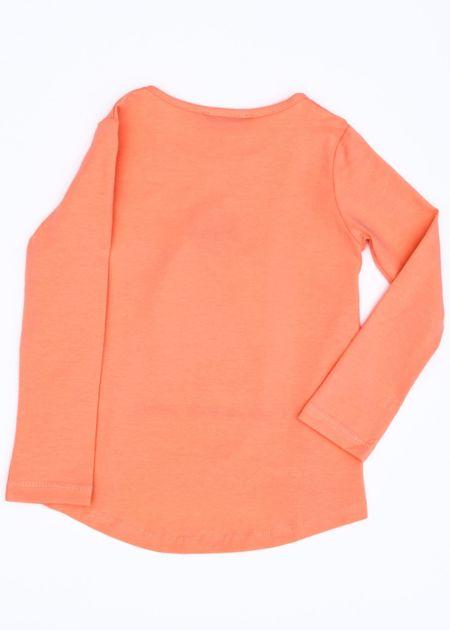 Pomarańczowa bluzka dla dziewczynki z pingwinem                              zdj.                              3