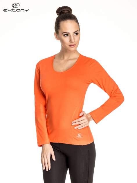 Pomarańczowa bluzka sportowa basic PLUS SIZE                                  zdj.                                  1