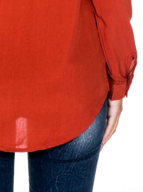 Pomarańczowa koszula damska z zamkiem z tyłu                                  zdj.                                  7
