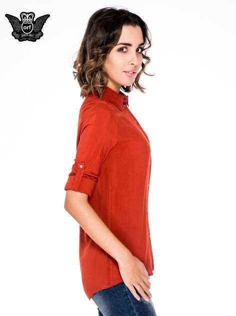 Pomarańczowa koszula damska z zamkiem z tyłu                                  zdj.                                  5