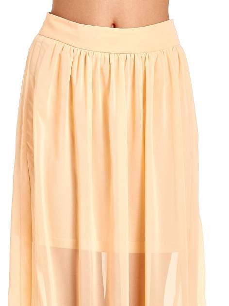Pomarańczowa spódnica maxi transparentna                                  zdj.                                  5