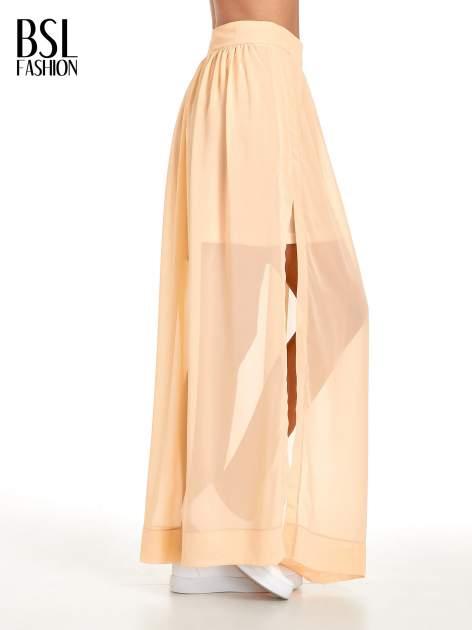 Pomarańczowa spódnica maxi transparentna                                  zdj.                                  3