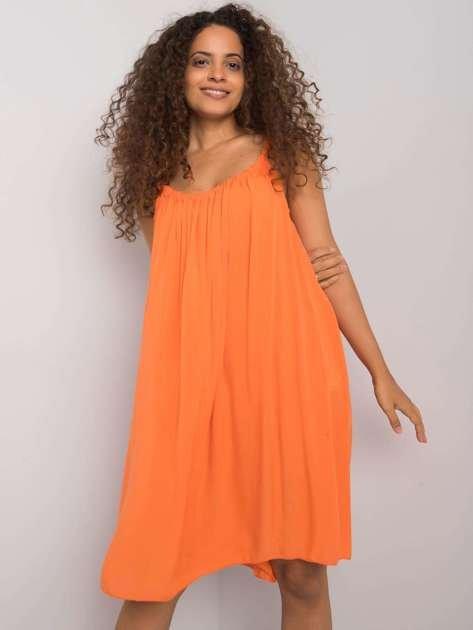 Pomarańczowa sukienka na ramiączkach Polinne OCH BELLA
